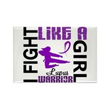 Fight Like A Girl Lupus Rectangle Magnet
