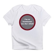MaShaAllah Infant T-Shirt (gray+red)
