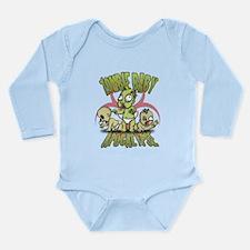 Cute Zombie baby Long Sleeve Infant Bodysuit