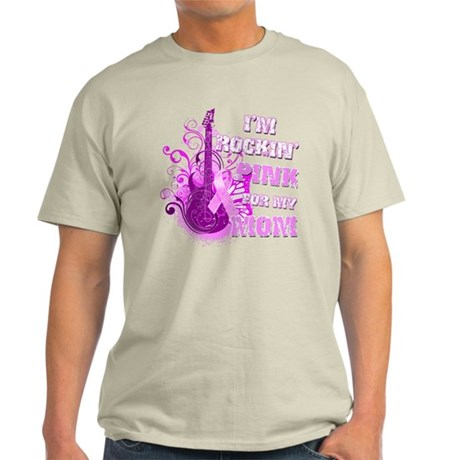 I'm Rockin' Pink for my Mom Light T-Shirt