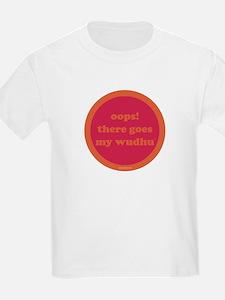 Wudhu Kids T-Shirt (fuschia + orange)