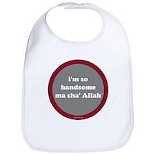 Ma Sha' Allah Bib (gray + red)