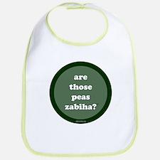 Zabiha Peas Bib (dark green)