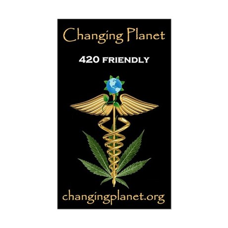 Changing Planet Sticker (Rectangle)