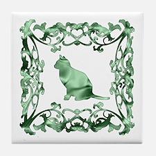 Cat Lattice Tile Coaster
