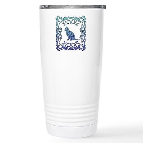 Cat Lattice Stainless Steel Travel Mug