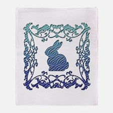 Rabbit Lattice Throw Blanket