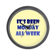 Monday All Week Wall Clock