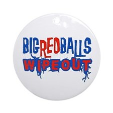 Big Red Balls Wipeout Ornament (Round)