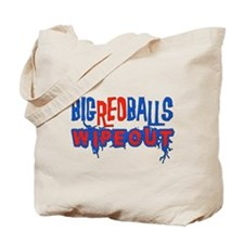 Big Red Balls Wipeout Tote Bag