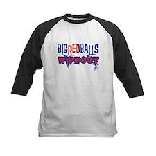 Big Red Balls Wipeout Kids Baseball Jersey