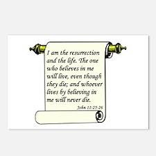 John 11:25-26 Postcards (Package of 8)