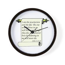 John 11:25-26 Wall Clock
