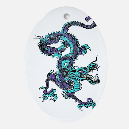 Chinese Dragon Ornament (Oval)