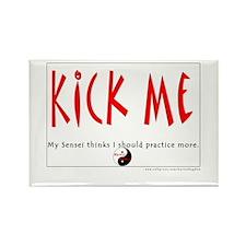 Kick Me Rectangle Magnet