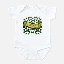 Shamrocks My First St. Patrick's Infant Bodysuit