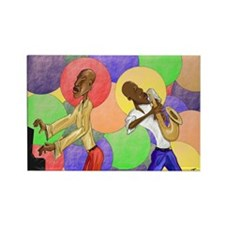 Color of Jazz Rectangle Magnet