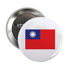 """Taiwan Flag 2.25"""" Button"""