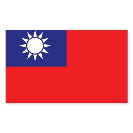 Taiwan Flag Sticker (Rectangle)