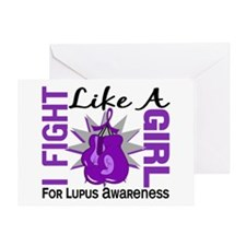 Fight Like A Girl Lupus Greeting Card