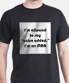Value Added MBA Ash Grey T-Shirt