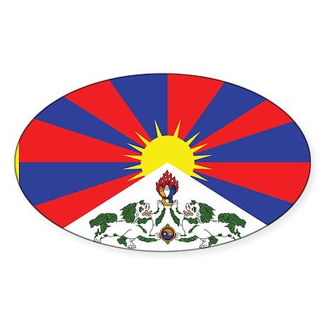 Tibet Flag Sticker (Oval)