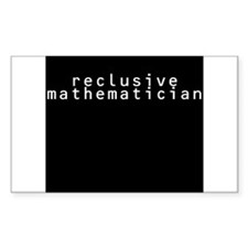 Reclusive Mathematician Decal