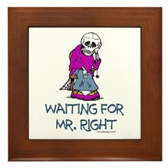Waiting For Mr. Right Framed Tile Picture
