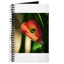 Unique Red calla lily Journal