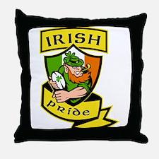 Irish leprechaun rugby Throw Pillow