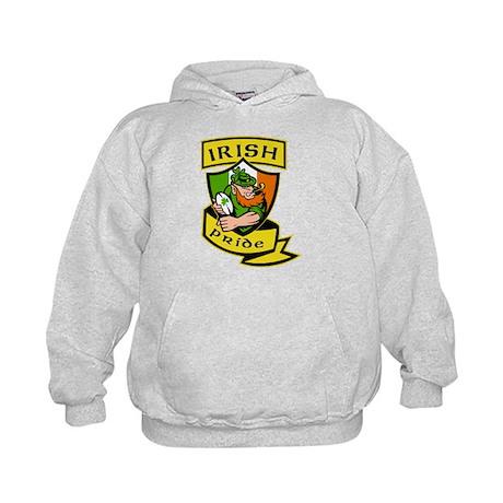 Irish leprechaun rugby Kids Hoodie