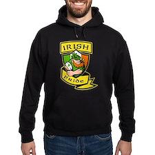 Irish leprechaun rugby Hoodie