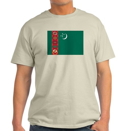 Turkmenistan Flag Light T-Shirt