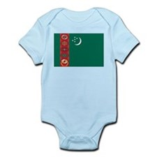 Turkmenistan Flag Infant Bodysuit