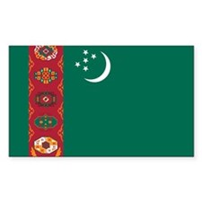 Turkmenistan Flag Decal