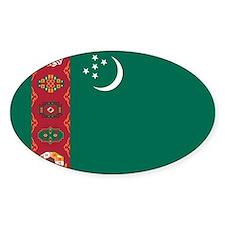 Turkmenistan Flag Decal
