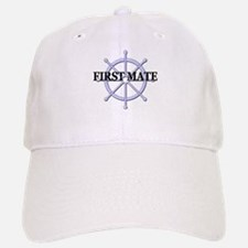 First Mate Ship Wheel Baseball Baseball Cap