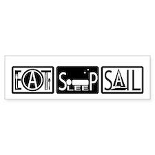 Eat Sleep Sail Bumper Bumper Sticker