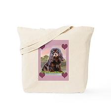 Black and Tan Cavalier Tote Bag
