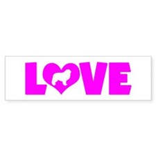 LOVE GREAT PYRENEES Bumper Sticker