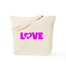LOVE GREAT PYRENEES Tote Bag