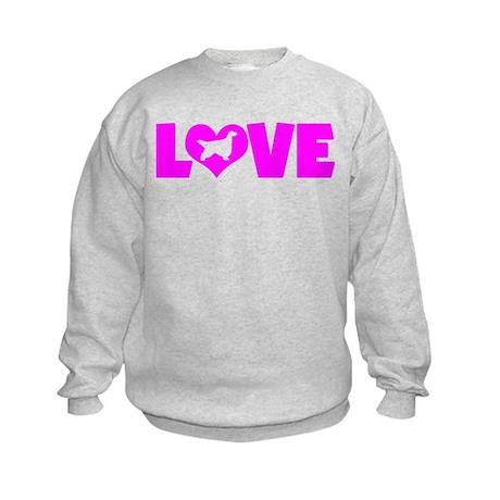 LOVE GORDON SETTER Kids Sweatshirt