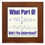 What part of Riemann's? Framed Tile