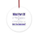 What part of Riemann's? Ornament (Round)