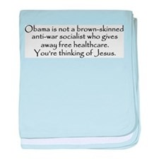 You're Thinking of Jesus baby blanket