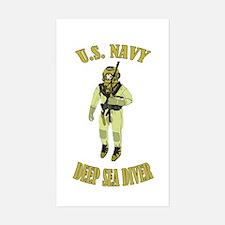 U.S. Navy Deep Sea Diver Sticker (Rectangle)
