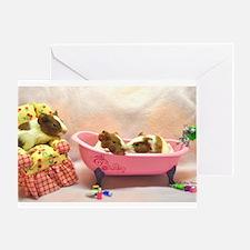 Baby Pig Bath Time Greeting Card
