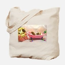 Baby Pig Bath Time Tote Bag