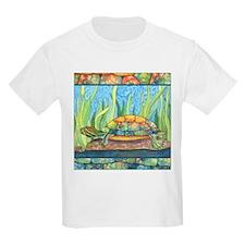 Tie Dye Turtle Watercolor Kids T-Shirt