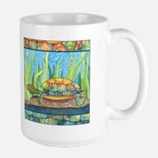 Tie Dye Turtle Watercolor Mug